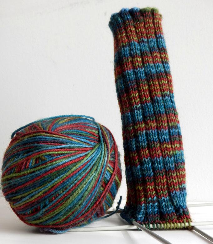 bunte wolle - Socke 420