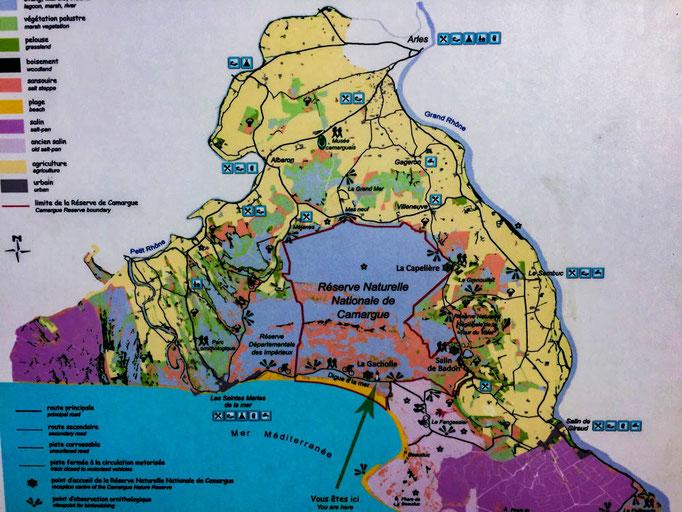 Camargue Karte.Camargue Natur Und Naturschutz Erleben Hpinsides Webseite