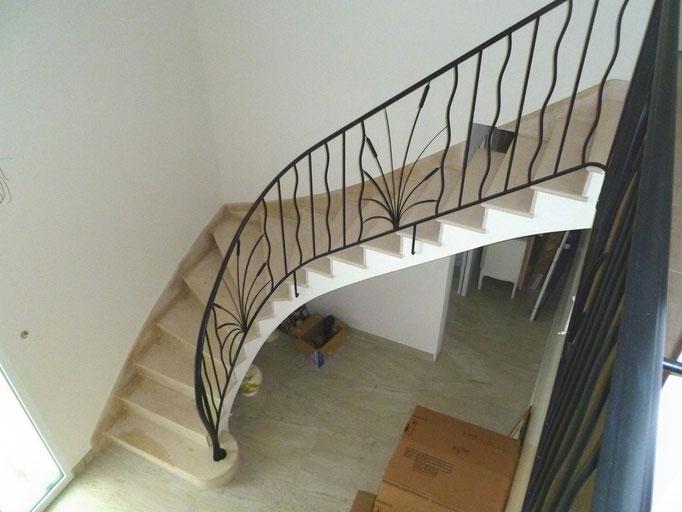 maison neuve escalier 1 quart tournant