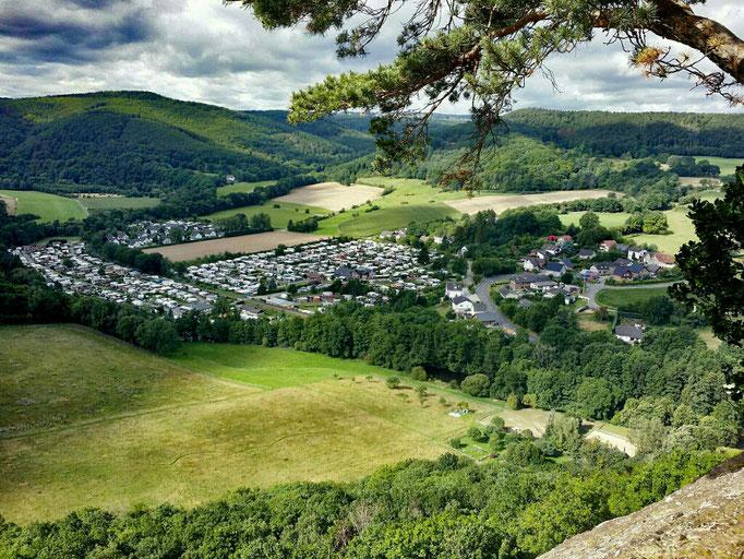 Nideggen - Ausblick von Bundsandsteinroute