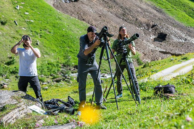 Dreharbeiten im Nationalpark Hohe Tauern / Filming in the Hohe Tauern National Park
