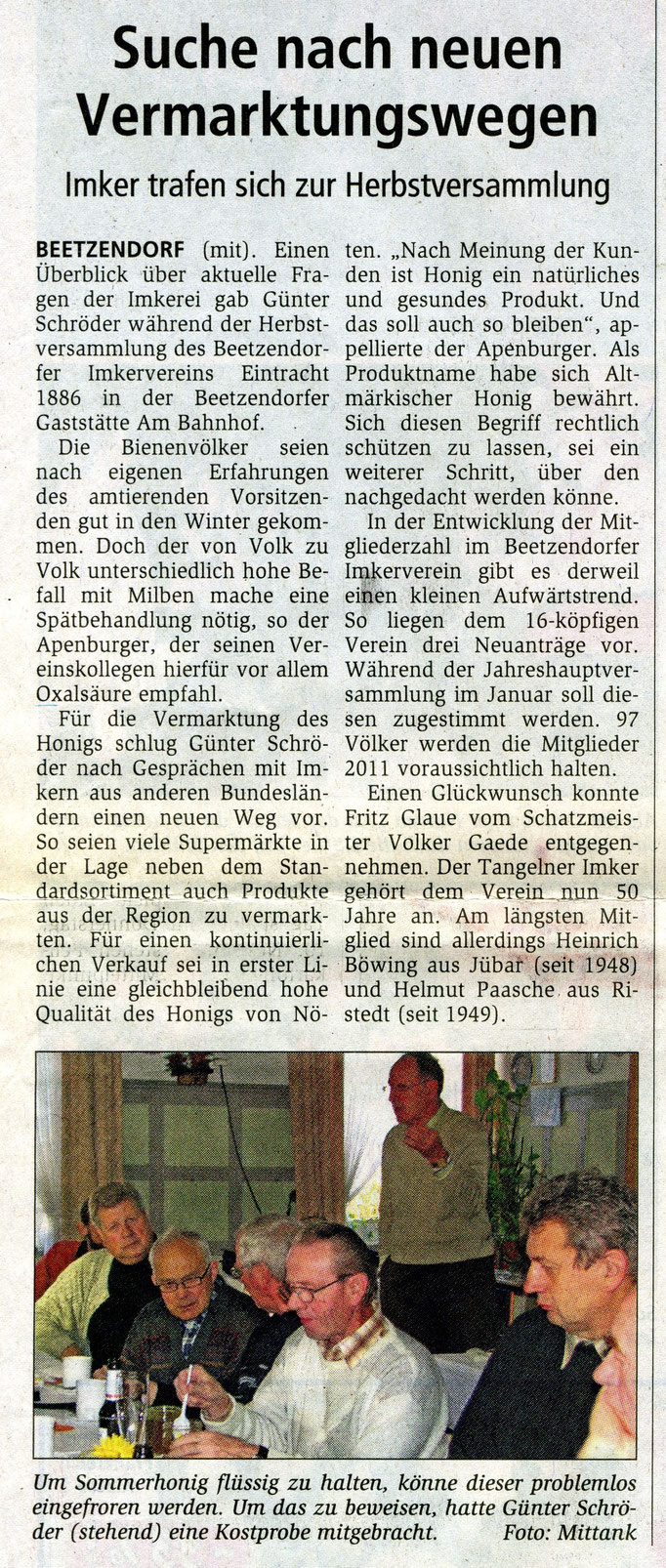 08.11.2010 Altmarkzeitung