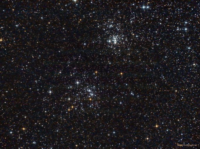 h & x Chi Persei (NGC 884 und NGC 869) im Sternbild Perseus,