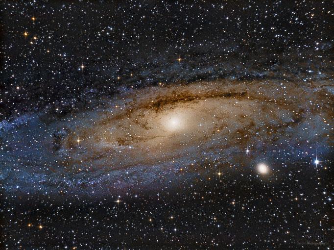 Andronmedagalaxie (M31) im Sternbild Andromeda. Entfernung ca. 2.5M Lichtjahre. Aufgenommen am 9.8.2014