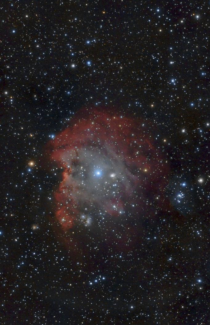 Affenkopfnebel (NGC 2174)  H-II-Emissionsnebel im Sternbild Orion, der etwa 6400 Lichtjahre von der Erde entfernt ist. Aufgenommen am 8.3.2015