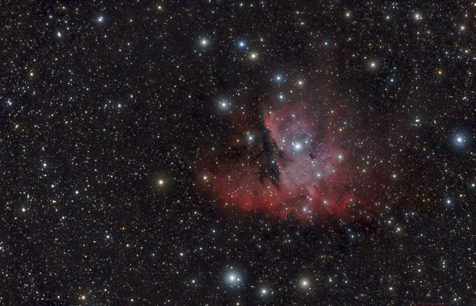 Pacmannebel (NGC 281) Emissionsnebel im Sternbild Kassiopeia,Entfernung 9500 LJ. Aufgenommen am 1.11.2014