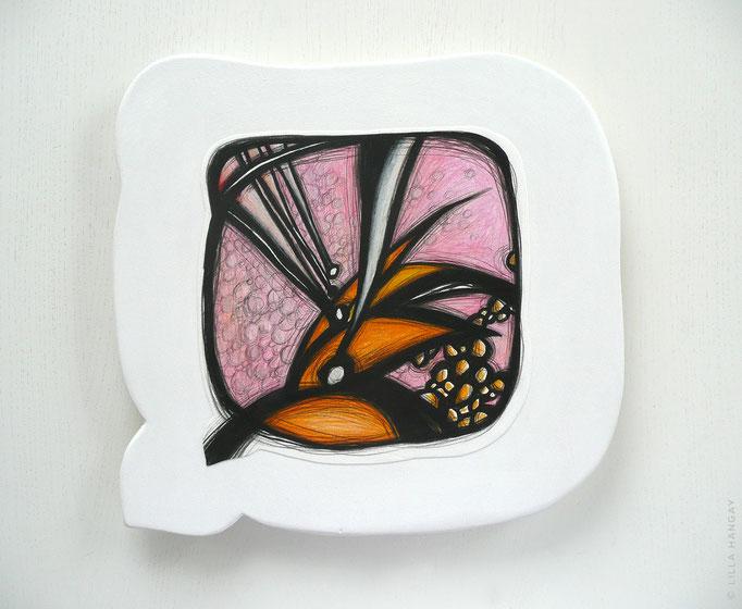 "© Lilla Hangay, SANTA FE 6, 2010, graphite, colored pencil on vellum mounted on wood panel, ca 12 x 12"""