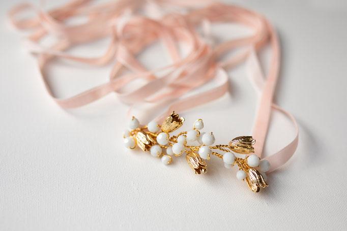 Brautgürtel Blüten Tulpenform 14K Gold Filled