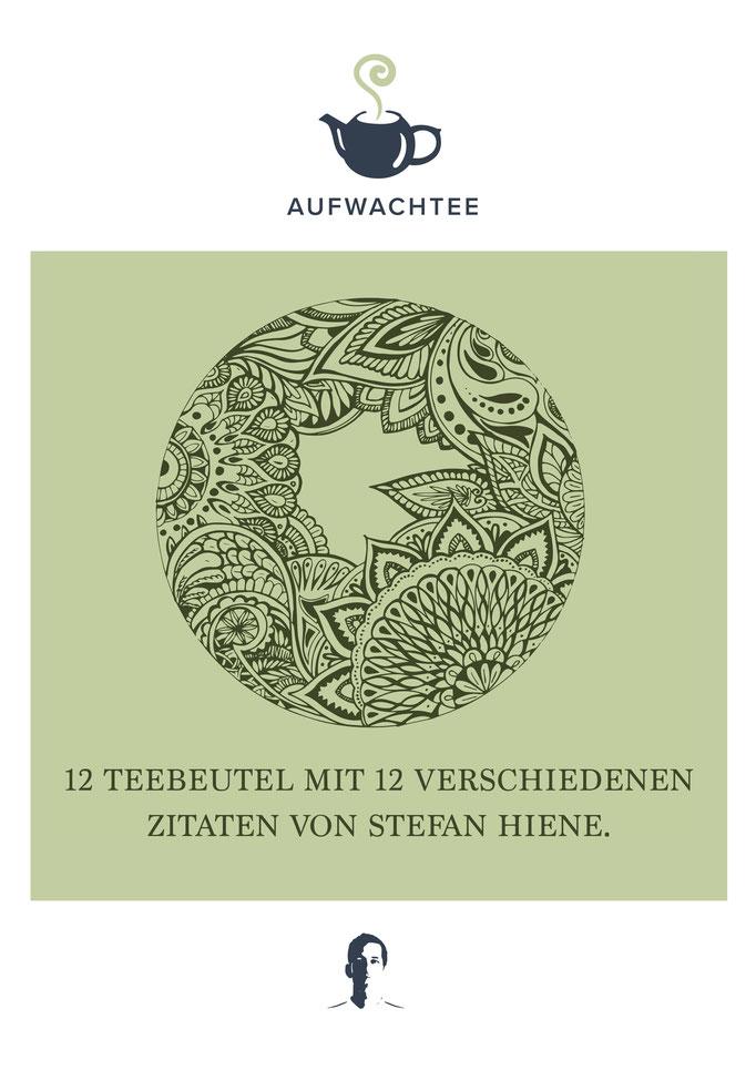 """Corporate Design und Illustration für die Marke """"Aufwachtee"""" von Stefan Hiene"""