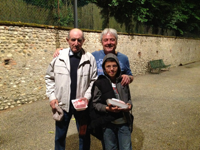 Le trio vainqueur : Jojo/Serge/Alex