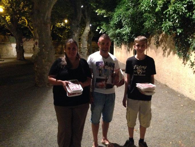 Le trio vainqueur : Aurélie(encore)/Mathieu/Thomas G.