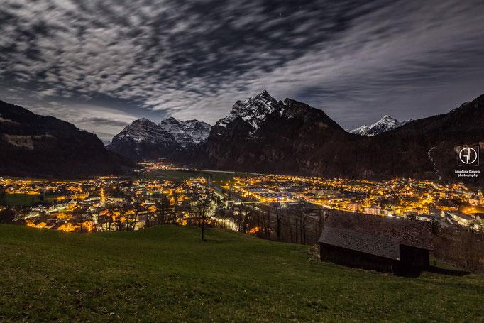 Glarus Nord im Mondlicht