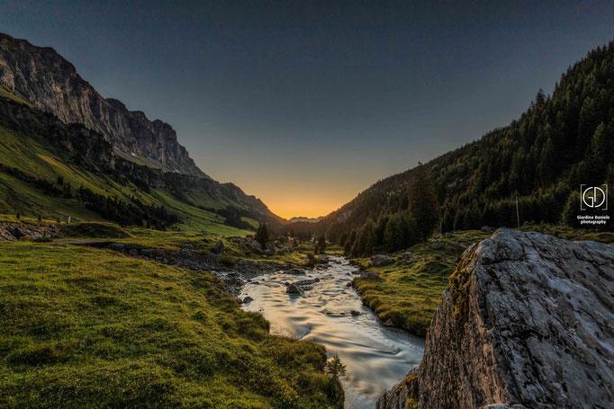 Sonnenaufgang auf dem Urnerboden