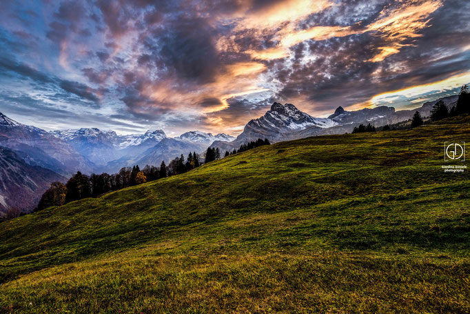 Sonnenuntergang in Braunwald