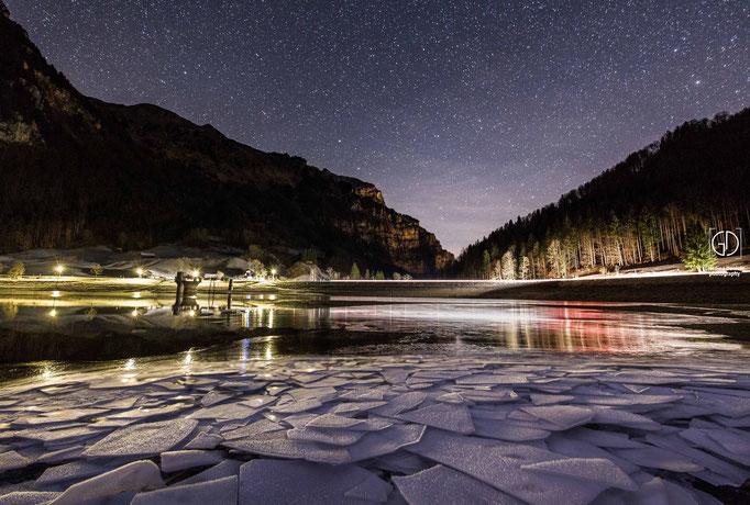 Eiszeit am Klöntalersee