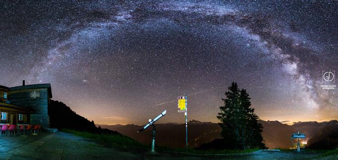 Panorama auf dem Gumen Braunwald GL