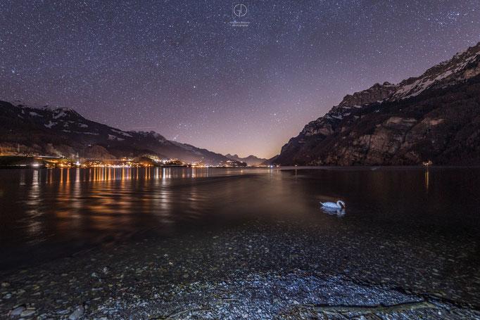 Nächtliche Aussicht am Walensee