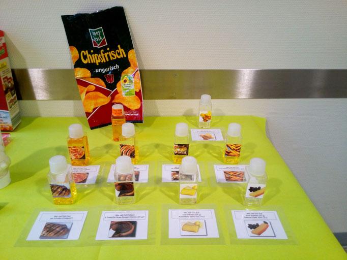 Fettmenge in verschiedenen Lebensmitteln