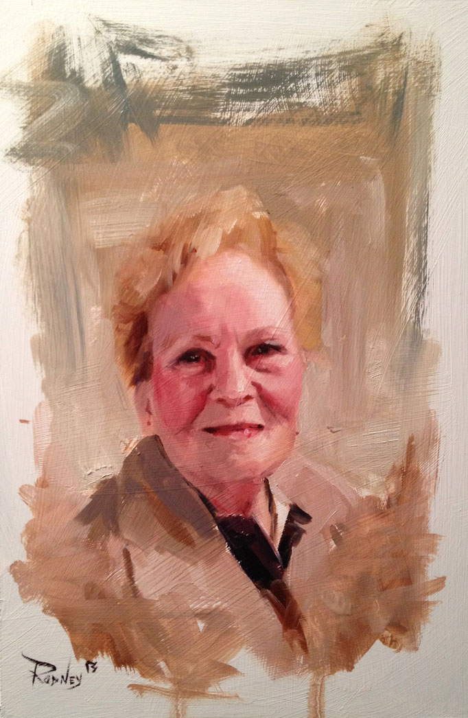 """Study of Shirley""  Oil on Masonite  8 1/4x12 inches"