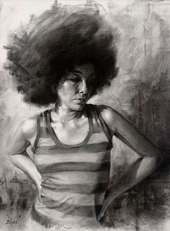 """Antecedent""  Charcoal on paper  18x24 inches"
