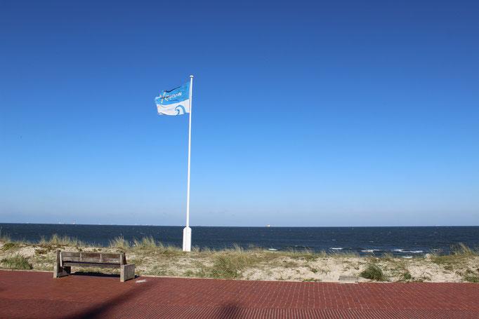 Urlaub Strandpromenade Fahne