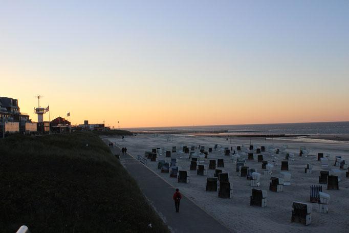 Wangerooge Strand Abendstimmung Sonnenuntergang