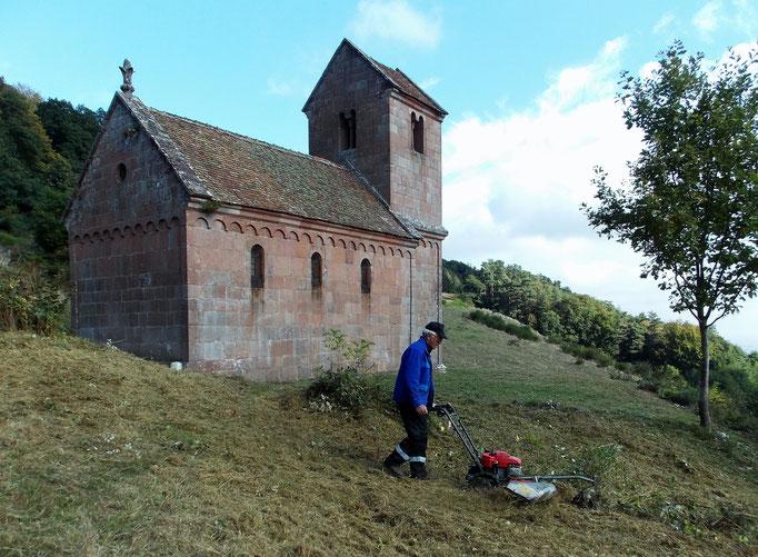 Débroussaillage autour de la chapelle st Nicolas