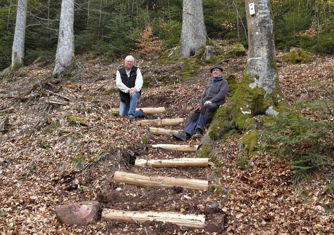 Nouvel escalier vers le Willerhof (MF)