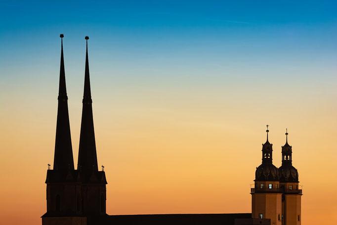 Marienkirche in der Dämmerung am Abend