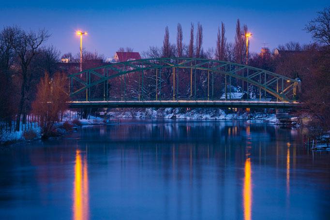 Genzmer Brücke im Winter