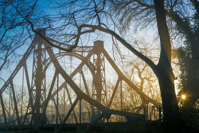 Peißnitzbrücke an einem Morgen im Winter