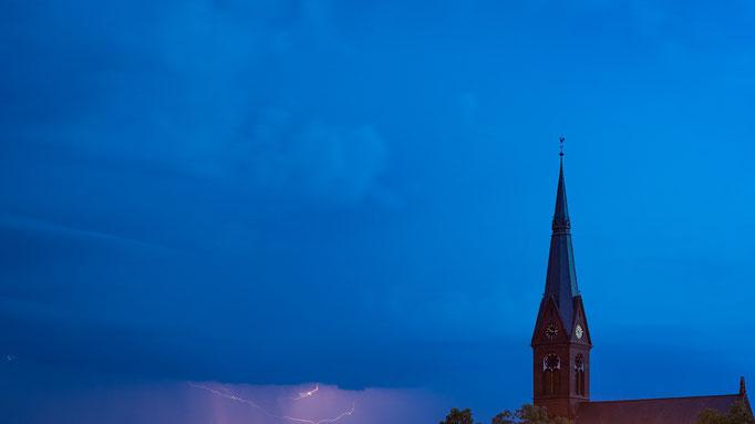 Gewitter über der Johanneskirche