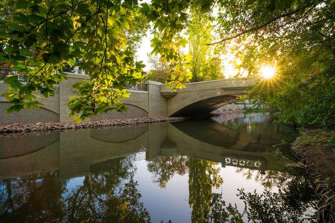 Brücke am Neuwerk im Herbst