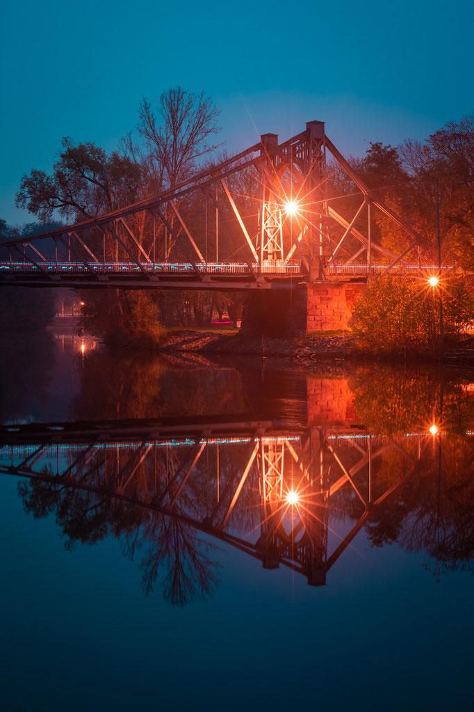 Peißnitzbrücke am Abend