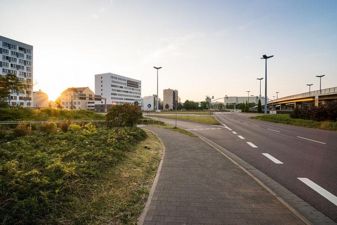 Sonnenuntergang am Riebeckplatz