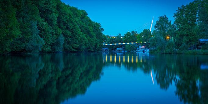 Rabeninselbrücke - Blaue Stunde