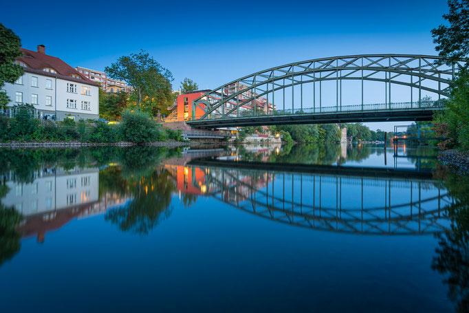 Genzmer Brücke am Abend