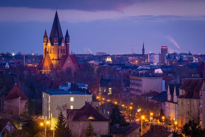 Blick vom Galgenberg zur Pauluskirche