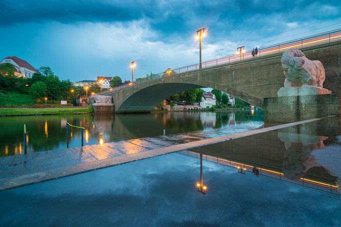 Gewitter an der Kröllwitzer Brücke