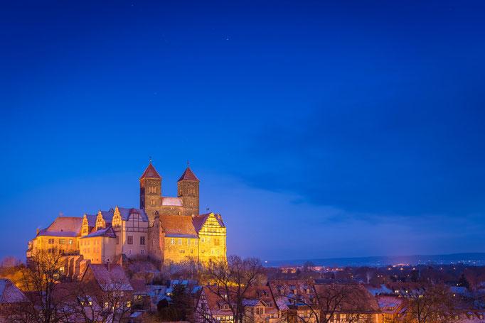 Schloss in Quedlinburg am Abend