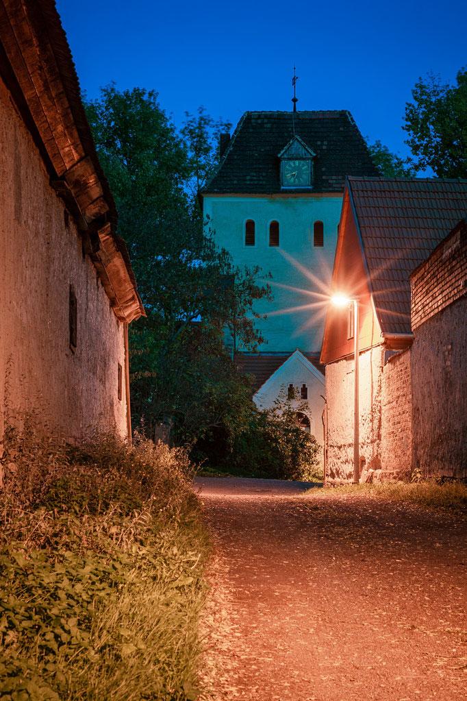 St. Wenzel Kirche in Radwell am Abend
