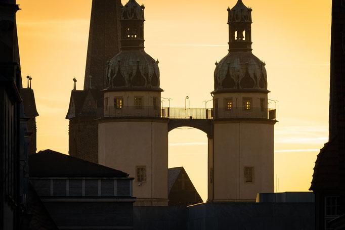 Marienkirche im Sonnenuntergang