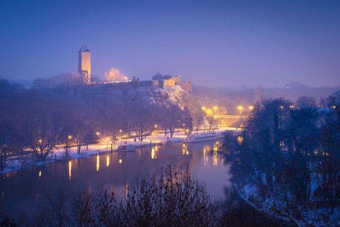Winter am Giebichenstein