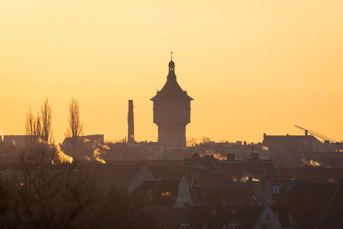 Wasserturm Nord, fotografiert vom Ochsenberg