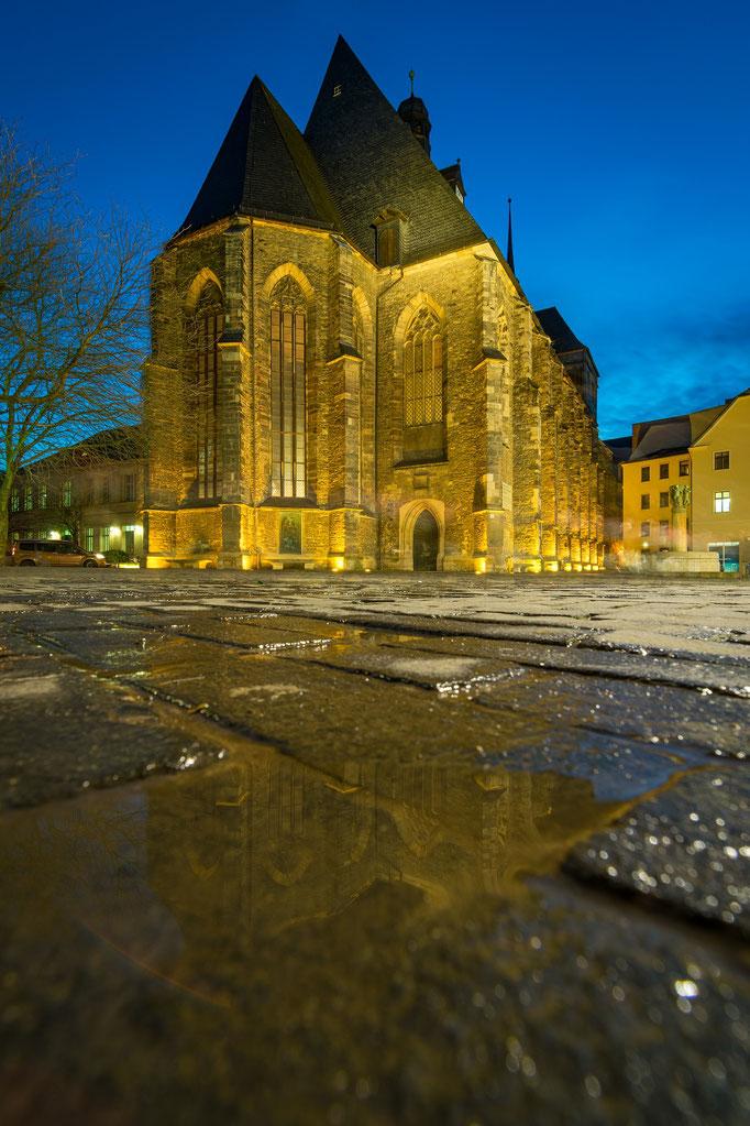 Konzerthalle Ulrichskirche am Abend