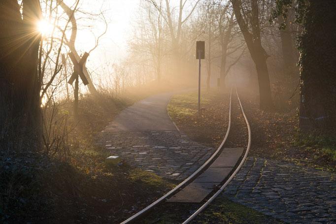 Herbstmorgen an der Peißnitzbrücke