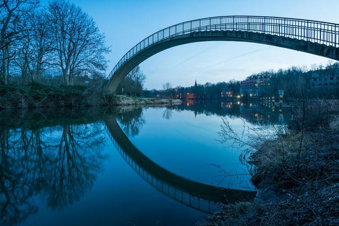 """Brücke """"Katzenbuckel"""" zur Halbinsel Forstwerder"""