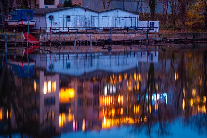Bootshäuser an der Saale