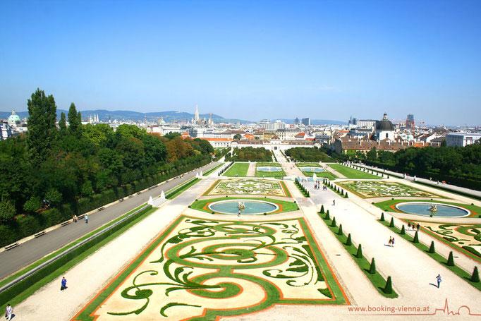 Wiens Sehenswürdigkeiten, Belvedere, Vienna buchen, booking