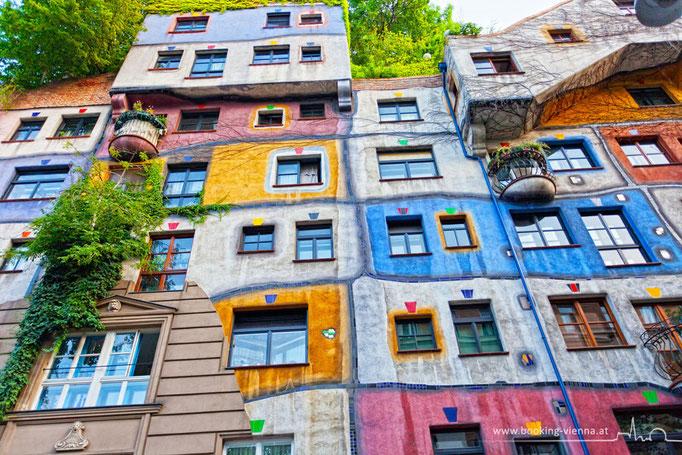Hundertwasser Haus, booking Vienna, Hotel Vienna buchen, Hotels in Wien